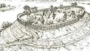 Oppida byla většinou stavěna na vyvýšených místech a byla opevněná nejčastěji palisádou