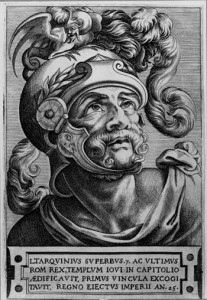 Lucius Tarquinius Superbus (? - 496 před Kr.) poslední římský král usedl na trůn poté, co zavraždil svého předchůdce Servia Tullia