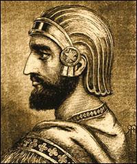 Kýros II. Veliký (+530 před Kristem) z dynastie Achaimenovců, zakladatel perské říše, jeden z největších dobyvatelů starověku