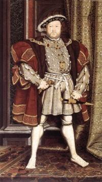 Jindřich VIII. vešel do povědomí hlavně kvůli tomu, že měl šest manželek. Je třeba upozornit, že tenkrát nebylo tak jednoduché dát se rozvést – musel s tím souhlasit sám papež. Právě tento nesouhlas prý způsobil odtržení Anglie od katolické církve a vytvoření církve anglikánské. Jindřich VIII. byl ženatý postupně s Kateřinou Aragonskou (1509 – 1533), se kterou se rozvedl, aby se mohl oženit s Annou Boleynovou, která byla roku 1536 obviněna z incestu a velezrady a popravena. Jindřich se poté oženil s Janou Seymourovou, která ovšem zemřela ihned po porodu roku 1537. To Jindřicha zřejmě ranilo a truchlení trvalo až do roku 1540, kdy se oženil s Annou. Bylo to velmi krátké manželství – trvalo pouhých šest měsíců. Měsíc poté se Jindřich oženil s Kateřinou Howardovou. Zanedlouho nato se začaly šířit zvěsti o její nevěře. Poté, co tato byla dokázána, byla roku 1542 Kateřina Howardová popravena. Poslední Jindřichovou ženou byla Kateřina Parrová. To už byl ale král příliš starý a nemocný, aby mohl zplodit tak dlouho toužebně očekávaného syna.