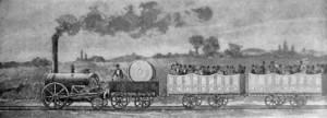 Parní lokomotiva George Stephensona na trati Liverpool – Manchester
