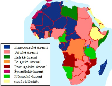 kolonizační mapa