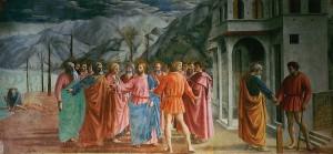 Masaccio: Peníz daně (1428)