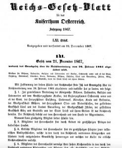 Nová prosincová ústava (Dezemberverfassung) z 21. prosince 1867
