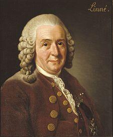 Carl von Linné (1707 - 1778) založil botanickou a zoologickou systematickou nomenklaturu