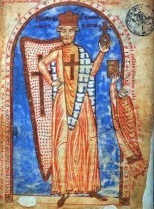 Obrázek Fridricha Barbarossy z manuskriptu z roku 1188