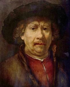Rembrandtův autoportét.