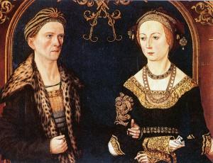 Významný bankéř Jakob Fugger s manželkou Sybillou