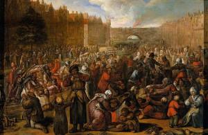 Otto van Veen: Pomoc Leidenu (1574)