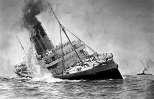 Potopení britské lodi Lusitania 1915