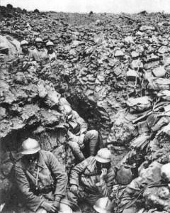 Francouzští vojáci v bitvě u Verdunu