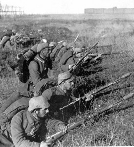 Němečtí vojáci v bitvě na řece Marně