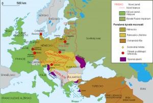 Mapa Evropy v roce 1923