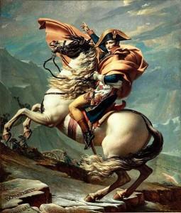 Napoleon překračuje Alpy od J.L. Davida