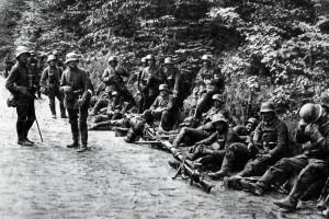 Němečtí vojáci u Caporetta
