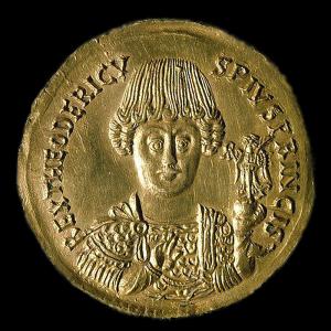 Medailon Theodorika I. Gótského (ze sbírky Victora Emmanuela III. v Římě )