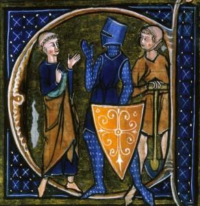 Mnich, rytíř a dělník reprezentují tři stavy (učení o trojím lidu)
