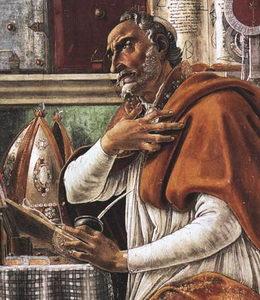 Sv. Augustin (354 - 430), biskup a učitel církve z období pozdního římského císařství