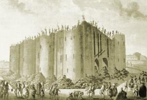 Bastila, pevnost sloužící jako vězení dobytá 14. července 1789