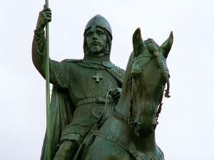 Jezdecká socha sv. Václava od J. V. Myslbeka v Praze (foto: Aleš Tošovský)