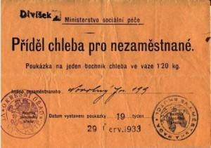 """""""Žebračenka"""" byla poukázkou na jídlo v době velké hospodářské krize"""