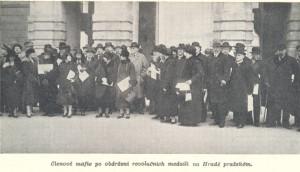 Členové tajného spolku Maffie v roce 1918