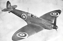 Britský jednomístný stíhací letoun Spitfire