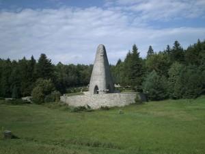Památník v Dukelském průsmyku (Duklianskom priesmyku) na slovensko-polské státní hranici