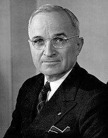 Harry S. Truman (8. 5. 1884 - 26. 12. 1972), 33. prezident Spojených států amerických