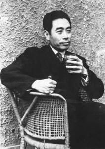 Čou En-laj (Zhou Enlai), premiér Čínské lidové republiky (1949 - 1976), jeden z nejvěrnějších společníků Mao Ce-tunga