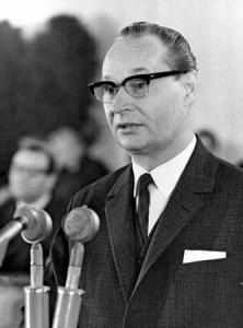 Alexander Dubček (1921 – 1992) reformní komunista, nastoupil do čela KSČ v lednu 1968.