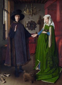 Jan van Eyck a jedno z jeho nejslavnějších děl, obraz Rodina Arnolfinů.