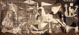 Obraz Gernika (Guernica) od Pabla Picassa zobrazuje zkázu vybombardovaného baskického městečka