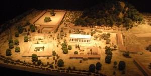 Model lokality v Olympiji (Britské muzeum)