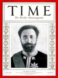 Etiopský císař Haile Selassie (1892 - 1975) na obálce amerického magazínu Time