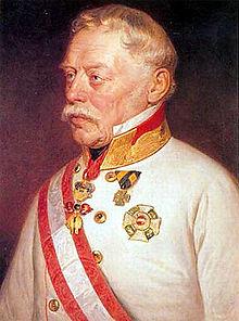 Josef Václav Radecký, hrabě z Radče (1766-1858) (obrázek cca 1850)