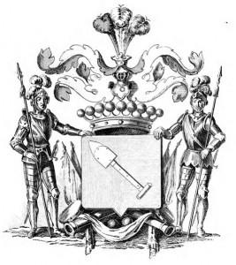 Erb šlechtické rodiny Radeckých z Radče (původně sídlili v tvrzi Radeč severně od Nového Bydžova)